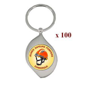 Lot de 100 Porte-clés personnalisés JSP 100M961JSP