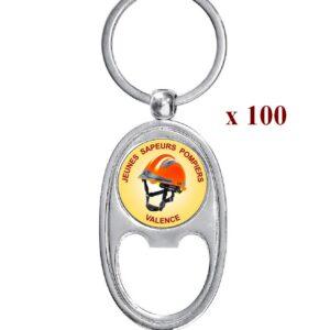 Lot de 100 Porte-clés personnalisés JSP 100M979JSP