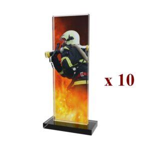 Lot de 10 Trophées Pompiers 10PN092