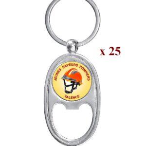Lot de 25 Porte-clés personnalisés JSP 25M979JSP