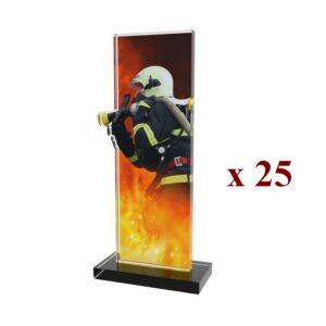 Lot de 25 Trophées Pompiers 25PN092