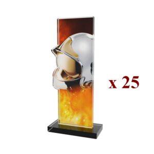 Lot de 25 Trophées Pompiers 25PN078