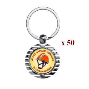 Lot de 50 Porte-clés personnalisés Sapeurs Pompiers 50M945JSP