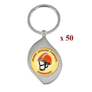 Lot de 50 Porte-clés personnalisés JSP 50M961JSP