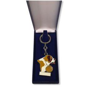 Porte-clés Saint-Bernard émaillé PC022