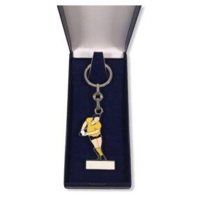 Porte-clés Rugby émaillé PC001J