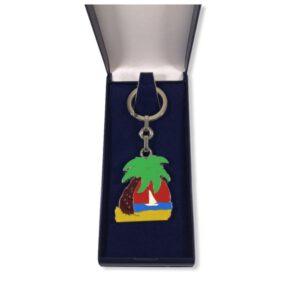 Porte-clés Cocotier émaillé PC031