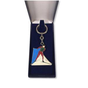 Porte-clés Ski de Fond émaillé PC010