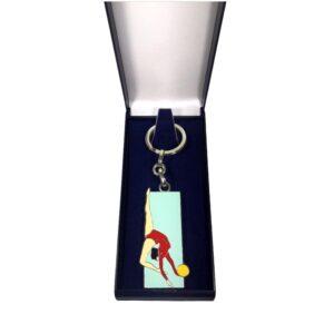 Porte-clés Gym fille émaillé PC010R