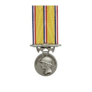 Médaille Pompiers ancienneté 20 ans 00879