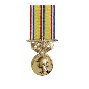 Médaille Pompiers ancienneté 40 ans 00875