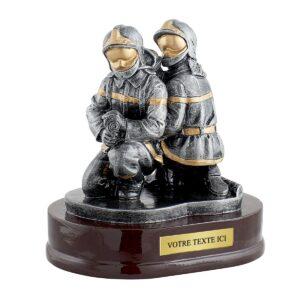 Trophée Pompiers en résine RS0894