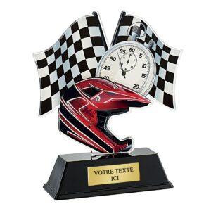 Trophée Moto casque PN054